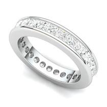 Channel Set Princess Diamond Curved Edge Eternity Ring (3 ct.)