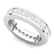 Channel Set Princess Diamond Curved Edge Eternity Ring (4 ct.)