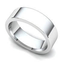 Flat Wedding Ring 6mm