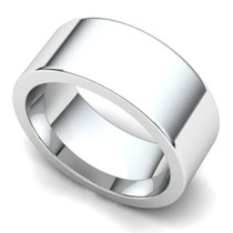 Flat Wedding Ring 8mm