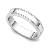 Milgrained Wedding Ring 4mm