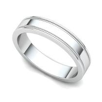 Milgrained Wedding Ring 4mm