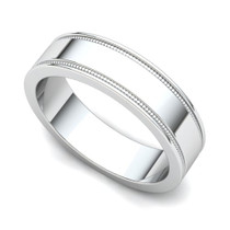 Milgrained Wedding Ring 5mm