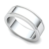 Milgrained Wedding Ring 6mm