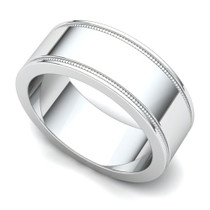 Milgrained Wedding Ring 7mm
