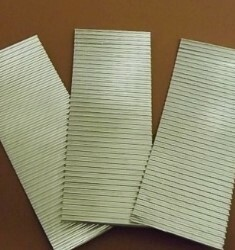 O scale corrugated iron - Industrial grade  - smaller width strips