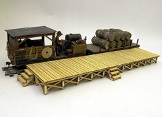 Wooden On30 platform kit with a wealth of detail
