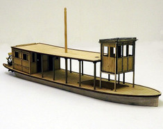 50ft river steamer - hull, deck, roof and cabin.