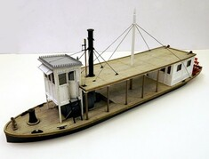 50ft O scale paddle steamer