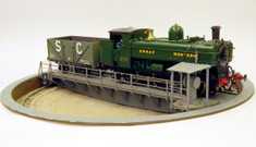 48ft O scale turntable complete with bridge, pit and motor