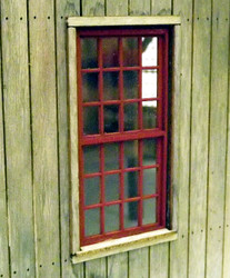 O scale Engine shed windows. 4ft x 8ft