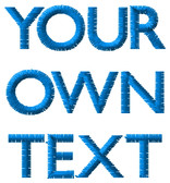 Embroidery 'Your Text' with choice of fonts