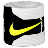 Nike T90 Captains Armband - White/Black/Yellow