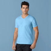 Gildan Premium Cotton V-Neck T-Shirt - Adult