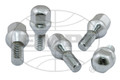 CHROME LUG BOLTS, 12mm, 60° (SET OF 5)