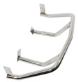 00-3117-0  STAINLESS STEEL BAJA BUMPERS, FRONT + FITS WIDE & BUG EYE