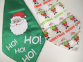2 x Jumbo / Large Padded Christmas Fun Ties HO! HO! HO! & Merry Christmas Santa