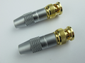 HQ 2 X 24K Gold Plated Shielded Male BNC Plugs For Cables Up To 7mm Diameter