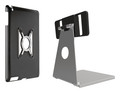 Omnimount OMN-IPM iPad stand for iPad Mini, mini case silver with black