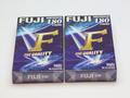 2 x Fuji E180 Minute 3 Hour Fine Quality VHS Video Cassette Tapes