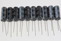 10 x Panasonic 470uF 25V 8mm x 20mm Slim Ultra Low ESR Electrolytic Capacitors