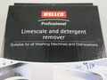 Wellco Washing Machine & Dishwasher Descaler & Cleaner Pack of 6 Sachets