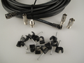 15m Black Universal RF Coax Aerial Satellite Sky Cable TV Extension Lead Kit