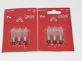6 Pack Of Konstsmide 34V, 3W, E10, MES Spare Welcome Candle Bridge Bulbs