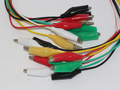 10 x Coloured Crocodile Alligator Croc Clip Test Lead Jumper Set, 480mm, 2.5A