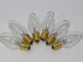 6 x 12V 3W 0.25A E12 Clear Christmas Lights Spare Bulbs Pifco Dencon 795WC