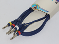 1.5m x 3 x 1/4 Inch 6.35mm Mono Jack to Mono Jack Professional Stage Link Cable