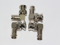 4 x BNC Male to Female Right Angled 90 Degrees Adaptor, Solid Metal Gold Pins