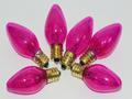 6 x 12V 3W 0.25A E12 Pink Christmas Lights Spare Bulbs Pifco Dencon Lyvia