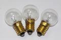 3 x Krypton Miners Lamp E10 Round Bulb, 2.4V, 1A, 2.4W, Emergency Light & Torch