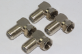 4 x Right Angle / 90 Degrees Satellite Male F Plug Low Profile Adaptor