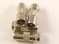 F Plug to Coax Male Plug Adaptor 4 Pack