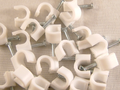 Cable Clips 7mm Satellite And Aerial Coax White 50 pack
