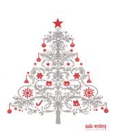 Christmas Tree Grey Red