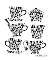 Tea Cups Black