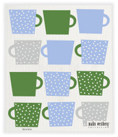 Tea Cups Blue Green