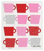 Tea Cups Red Pink