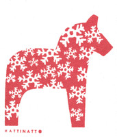 Dala Horse Snowflake Red