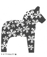 Dala Horse Black - New!