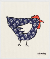 Tapestry Hen Blue