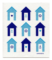 Beach Huts Blue Turquoise - New!