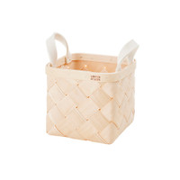 Lastu Birch Basket Small Felt Handles