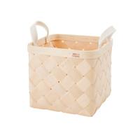 Lastu Birch Basket Medium Felt Handles