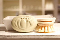 Pumpkin Soap -  Scrub Brush Duo