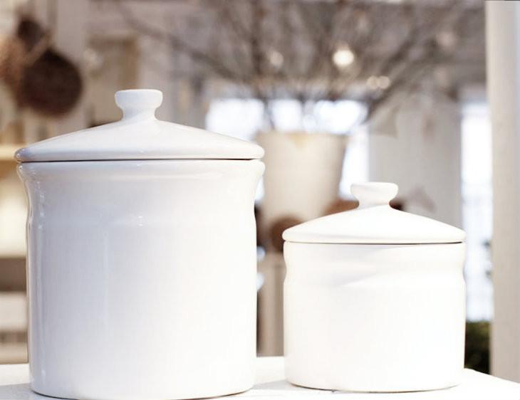 Image 1 & White Ceramic Jar - Small