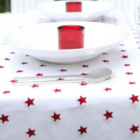 Red Stars Tablecloth